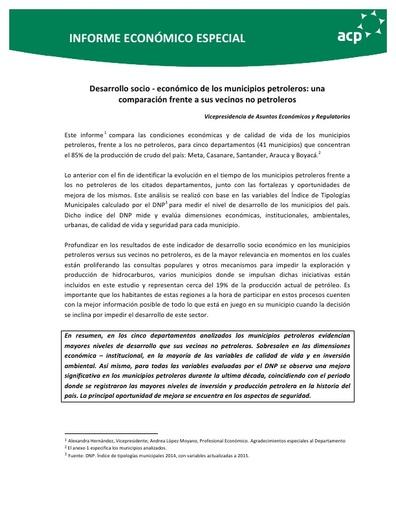 Informe económico especial Agosto 2017