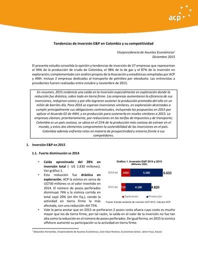 Conclusiones estudio 2015 tendencias inversión VF