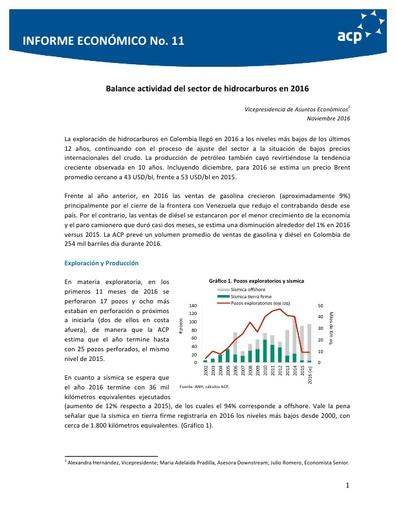 Informe económico No. 11 Noviembre