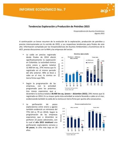 Informe de tendencias E&P