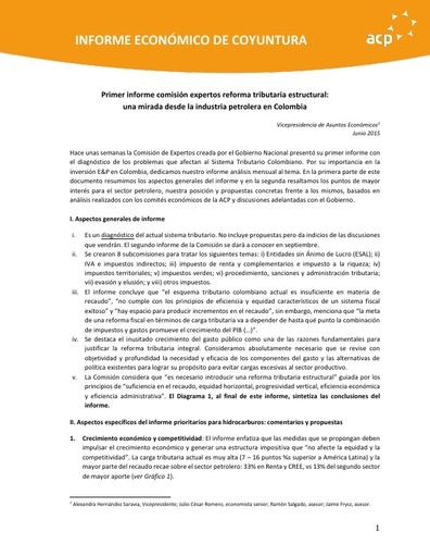 Posición ACP Reforma Tributaria Estructural