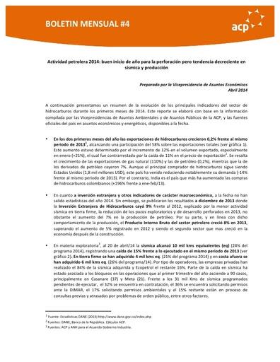 Boletín abril UPS 1Q 2014