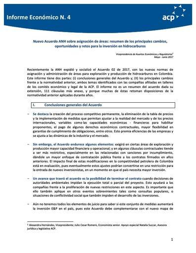 Informe económico Acuerdo 2 Mayo Junio 2017