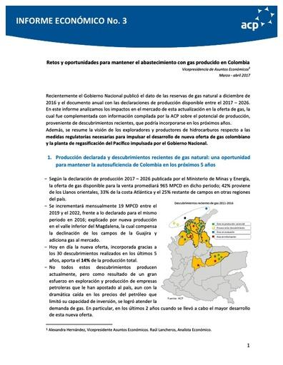 Informe economico Gas Natural Marzo Abril 2017