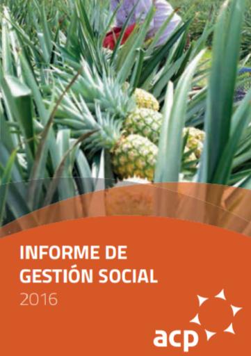 Informe de Gestión Social 2016